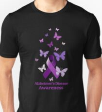 Purple Awareness Ribbon: Alzheimer's Disease Unisex T-Shirt
