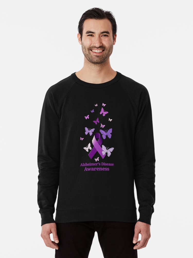 6dcd55abd95 'Purple Awareness Ribbon: Alzheimer's Disease' Lightweight Sweatshirt by  Alondra