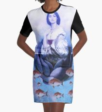 Water-Lily Graphic T-Shirt Dress