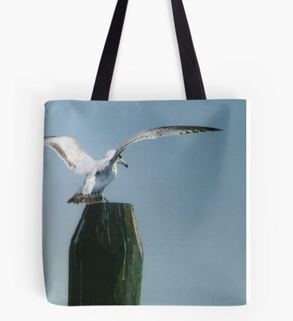 Perching Seagull Tote Bag