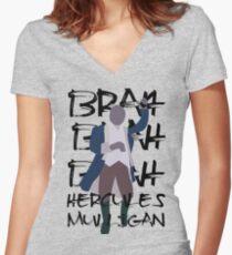 Hercules Mulligan- Hamilton Women's Fitted V-Neck T-Shirt