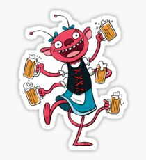 Marzen Beer Monster Sticker