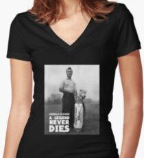 King The Legend Women's Fitted V-Neck T-Shirt