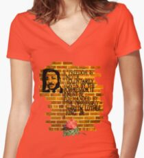 Martin Luther King, Jr. Day  Women's Fitted V-Neck T-Shirt