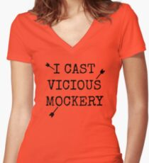 Vicious Mockery Women's Fitted V-Neck T-Shirt