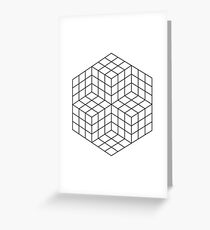 Vasarely cubes Greeting Card