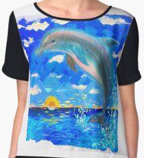 Baby Dolphin Radiant Sunrise Women's Chiffon Top