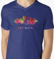Fort Worth skyline in watercolor T-Shirt