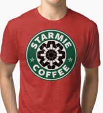 Starmie Coffee - Pokemon Starbucks (black) Tri-blend T-Shirt