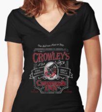 Crowleys Crossroads Inn Shirt mit V-Ausschnitt