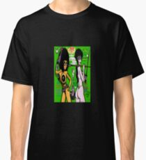 Space Chick & Nympho: Vampire Warrior Party Girl Comix #1 - Comic Book Cover Classic T-Shirt