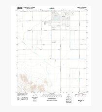 USGS TOPO Map Arizona AZ Arizona City 20111021 TM Photographic Print