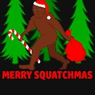 Merry Squatchmas Funny Christmas Bigfoot Santa by theartofvikki