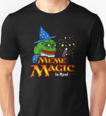 Meme Magic Is Real Pepe The Frog Wizard T-Shirt