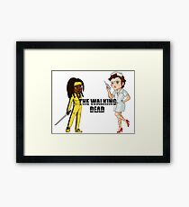 Kill the walking dead Framed Print