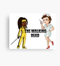 Kill the walking dead Canvas Print