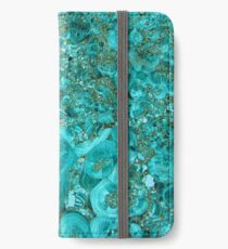 Marble Turquoise Blue Gold iPhone Wallet/Case/Skin