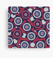 Retro pattern. Industrial background Canvas Print
