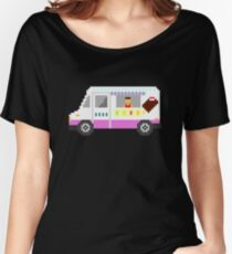 Ice Cream Truck - The Kids' Picture Show - 8-Bit Women's Relaxed Fit T-Shirt
