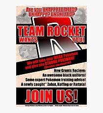 Pokemon - Team Rocket Recruitment Photographic Print