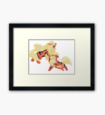 Fire Pawer Framed Print