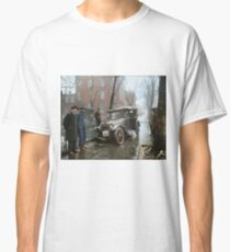 Auto Wreck in Washington DC, 1921. Colorized Classic T-Shirt