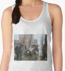 Auto Wreck in Washington DC, 1921. Colorized Women's Tank Top