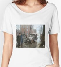 Auto Wreck in Washington DC, 1921. Colorized Women's Relaxed Fit T-Shirt