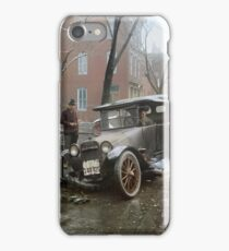 Auto Wreck in Washington DC, 1921. Colorized iPhone Case/Skin