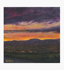 Sunset Over Belfast Photographic Print