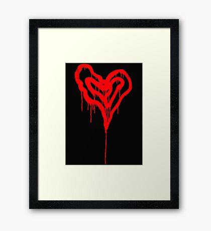 Twin Bleeding Hearts Framed Print