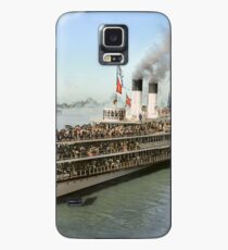 Sidewheeler Tashmoo leaving wharf in Detroit, ca 1901 Colorized Case/Skin for Samsung Galaxy