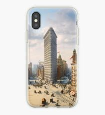 Flat Iron in New York City, ca 1903 colorized iPhone Case