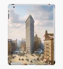 Flat Iron in New York City, ca 1903 colorized iPad Case/Skin