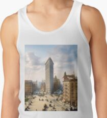 Flat Iron in New York City, ca 1903 colorized Tank Top