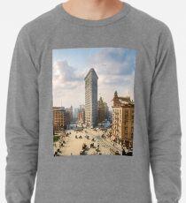 Flat Iron in New York City, ca 1903 colorized Lightweight Sweatshirt
