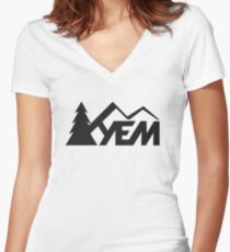 YEM Women's Fitted V-Neck T-Shirt