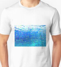 Oil painting of Aqua background and light rays T-Shirt