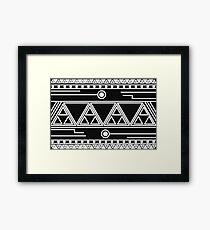 Afro Futuristic pattern Framed Print