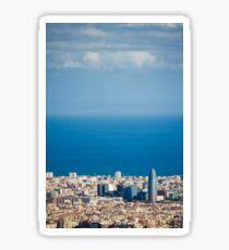 Barcelona City, Spain Sticker