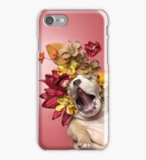 Flower Power, Luvable puppy iPhone Case/Skin