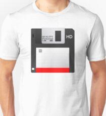 Black Floppy Disk  Unisex T-Shirt
