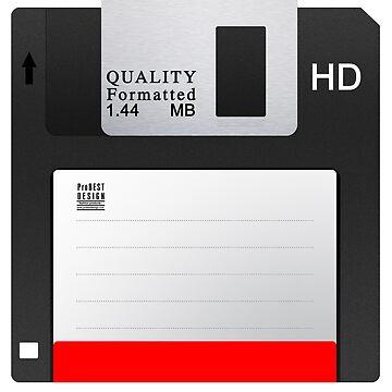 Black Floppy Disk  by ProBEST