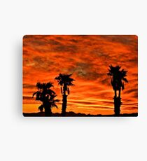 Welcome Home Sunset Canvas Print
