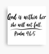 God is within her she will not fall Metal Print