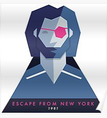 Escape from New York (1981) 80s Sticker Poster