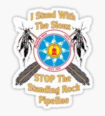 Standing Rock Sioux Crossed Arrows Sticker