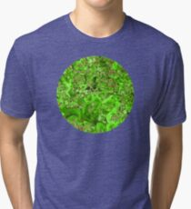 Marble Emerald Green Ruby Red Tri-blend T-Shirt