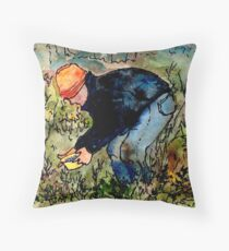 Wildago's Berry Picker Throw Pillow