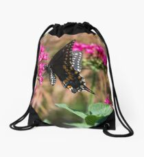 Backyard Butterfly Drawstring Bag